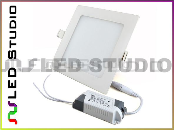 Lampa panel LED 12W SMD2835 230V Neutralna - kwadrat